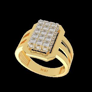 The Splendid  Gold Diamond Men`s Ring