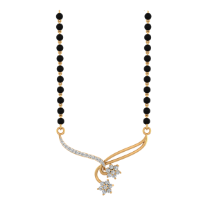 It Is Love Mangalsutra With Black Beads Gold Chain