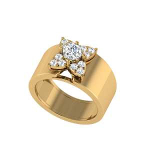 The Floret Blossom Solitaire Ring