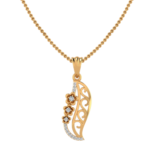 The Floral Crossway Diamond Pendant