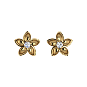 The Floral Treasure Diamond Stud Earrings