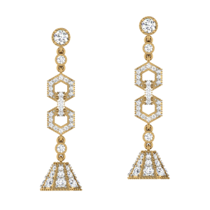 Swing Like A Chandelier Diamond Dangle Earrings