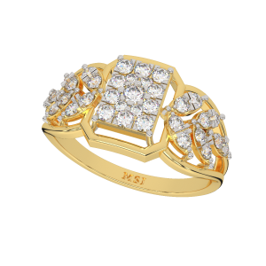 The Orthodox Touch Gold Diamond Ring