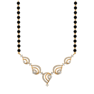 The Precious  Mangalsutra With Black Beads Gold Chain