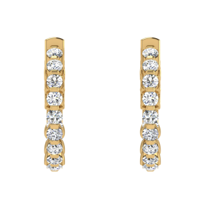 Diamond Domain Hoop Earrings