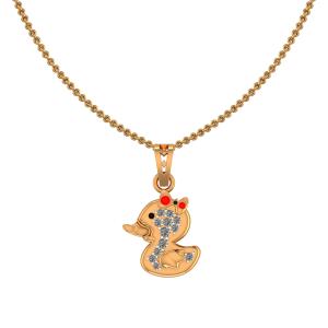 Cute Duck Diamond Kids Pendant