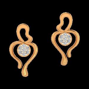 Dancing Dolls Gold Diamond Earrings