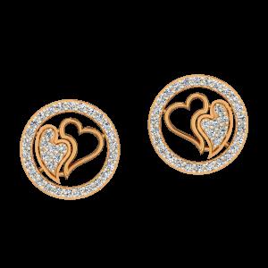 Love Everywhere Gold Diamond Earrings
