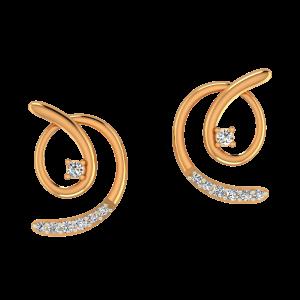 The Golden Hues Diamond Earrings