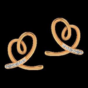 The Heartiest Gold Diamond Earrings