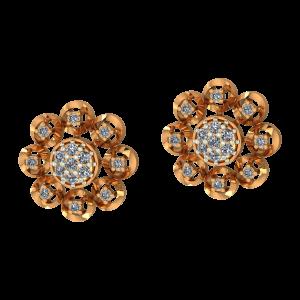 The Round Flair Diamond Earrings