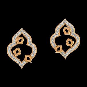 Absolute Art Gold Diamond Earrings