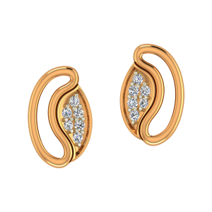 The Bean Bay Gold Diamond Earrings