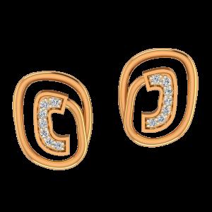 The Golden Circuit Diamond Earrings