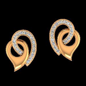 Paisley Point Diamond Earrings
