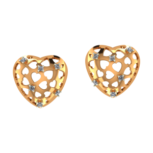 Dramatic Heart Diamond Earrings