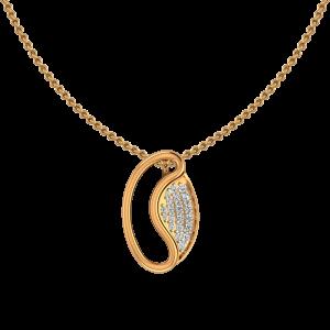 Bean Seen Gold Diamond Pendant