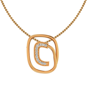 The Golden Circuit Diamond Pendant