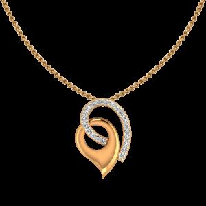 The Confluence Diamond Gold Pendant