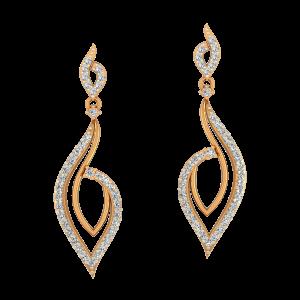 The Fabulous Gold Diamond Earrings