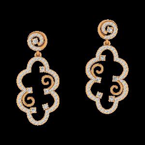 CLove Me Gold Diamond Earrings