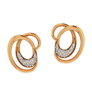 Style Hangover Gold Diamond Earrings