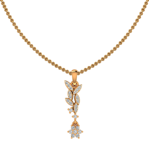 Glitter String Gold Diamond Pendant