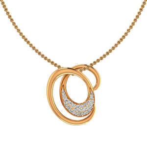 Romantic Drama Gold Diamond Pendant