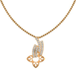 Floral Retreat Gold Diamond Pendant