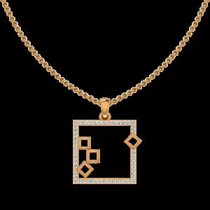 The Collage Gold Diamond Pendant