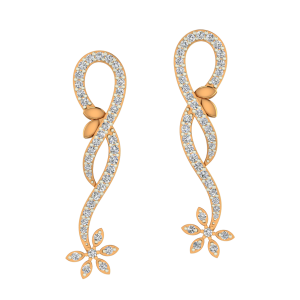 Dangle Fashion Gold Diamond Earrings