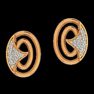 The White Trail Gold Diamond Earrings