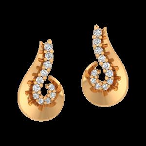 All Is Well Gold Diamond Earrings