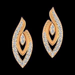 Marquise Flash Gold Diamond Earrings
