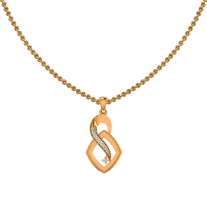 Twist N Turn Gold Diamond Pendant