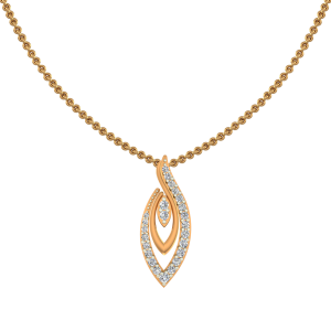 Evergreen Flair Gold Diamond Pendant