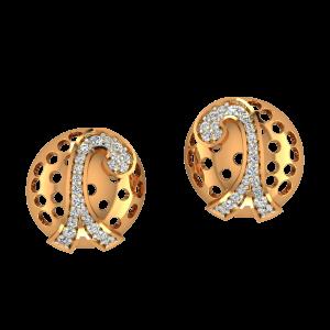 Romantic Eiffel Gold Diamond Earrings