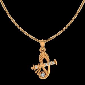 Auspicious Opportune Gold Diamond Pendant