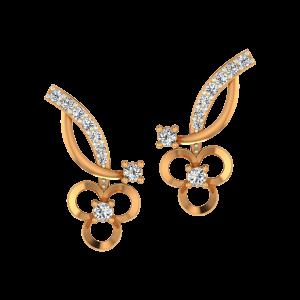 Golden Clubs Gold Diamond Fancy Earrings
