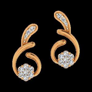 Off The Beat Gold Diamond Stud Earrings