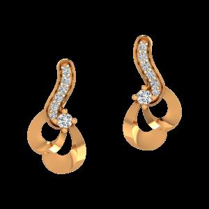The Subtle Sway Gold Diamond Fancy Earrings