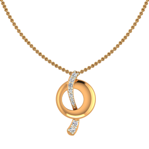 The Shiny Loops Gold Diamond Pendant