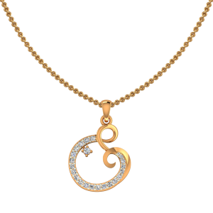 The Dancing Dash Gold Diamond Pendant