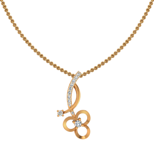 The Fancy Flower Gold Diamond Pendant