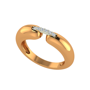 Locked Forever Couple Gold Diamond Ring For Him