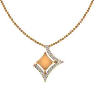 The In Complete Gold Diamond Pendant