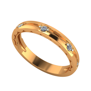 The Pure Band Gold Diamond Ring