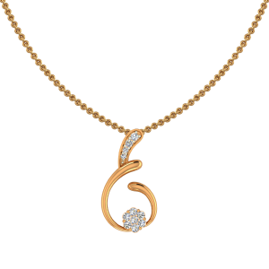Off The Beat Gold Diamond Pendant