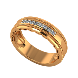 The Bang Band Gold Diamond Ring