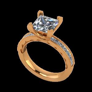 The Princess Crown Gold Diamond Ring